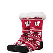 FOCO Wisconsin Badgers Footy Slippers