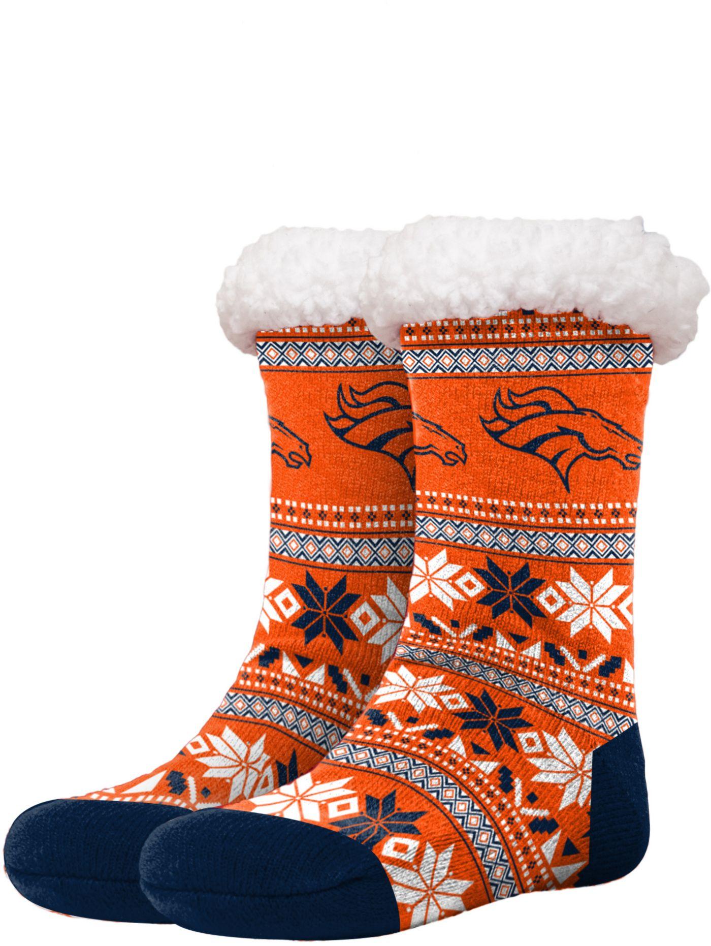 FOCO Denver Broncos Footy Slippers