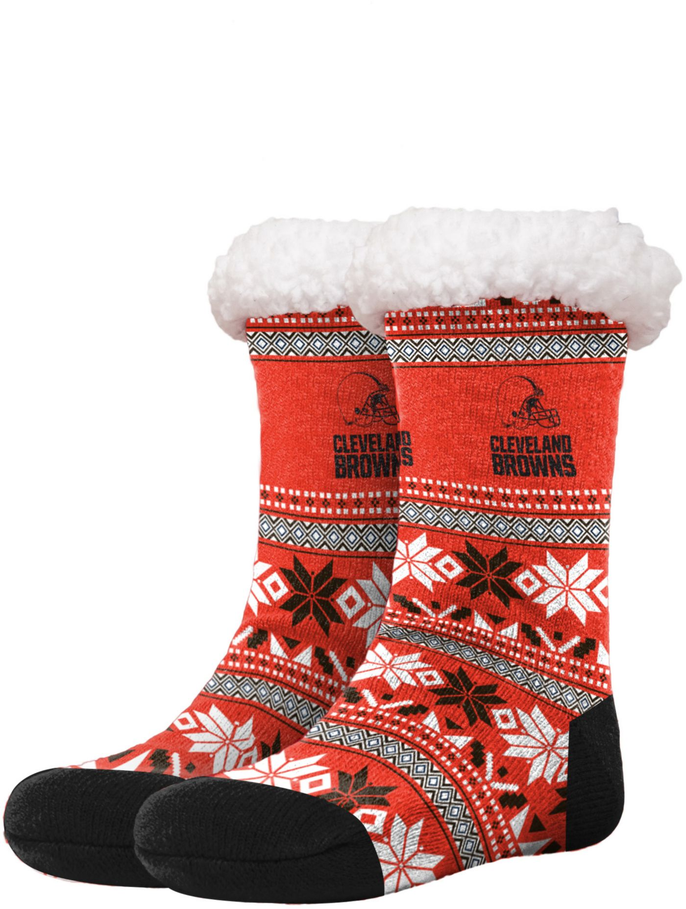 FOCO Cleveland Browns Footy Slippers