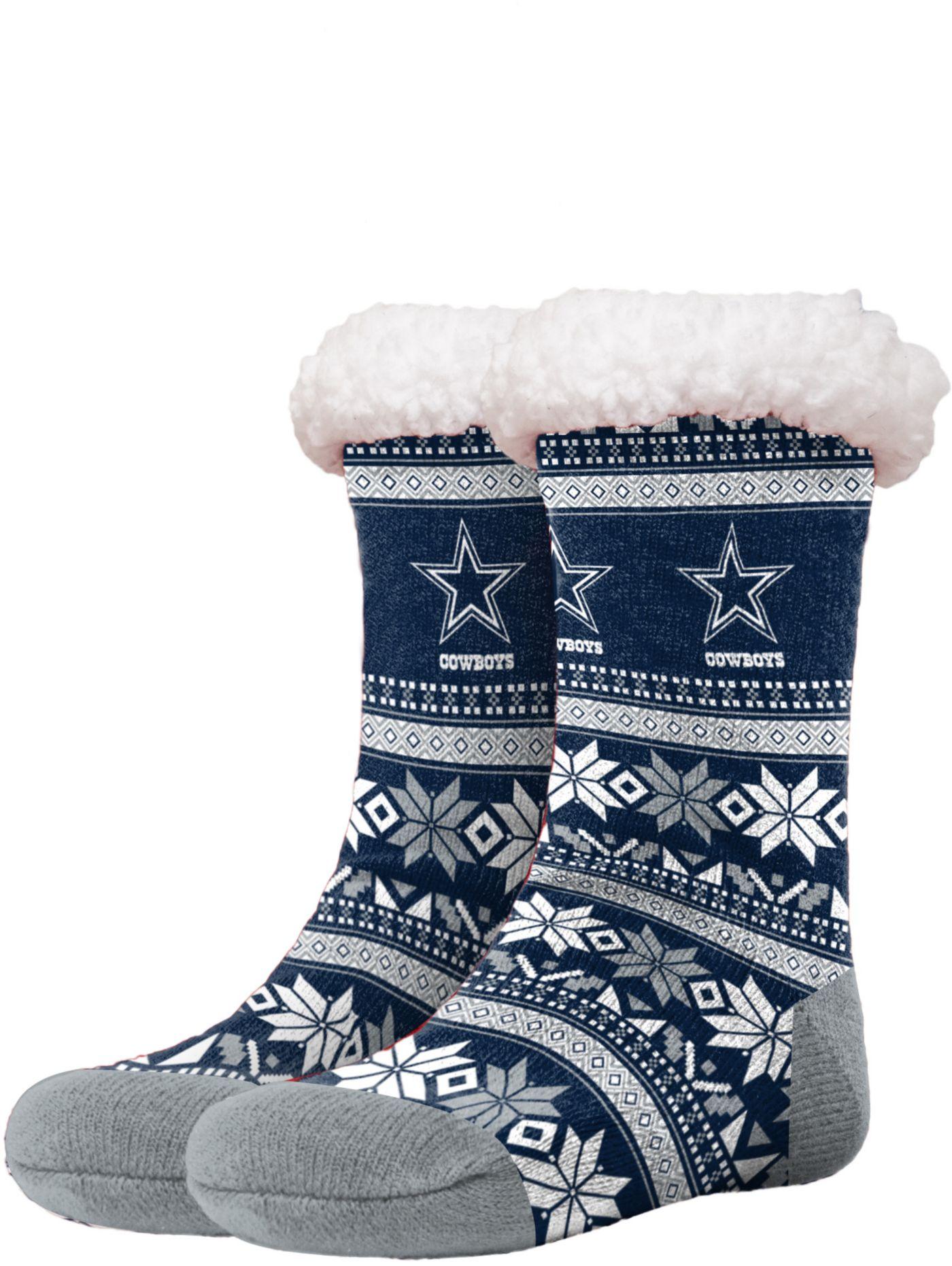 FOCO Dallas Cowboys Footy Slippers