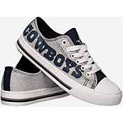 FOCO Dallas Cowboys Women's Glitter Canvas Shoes