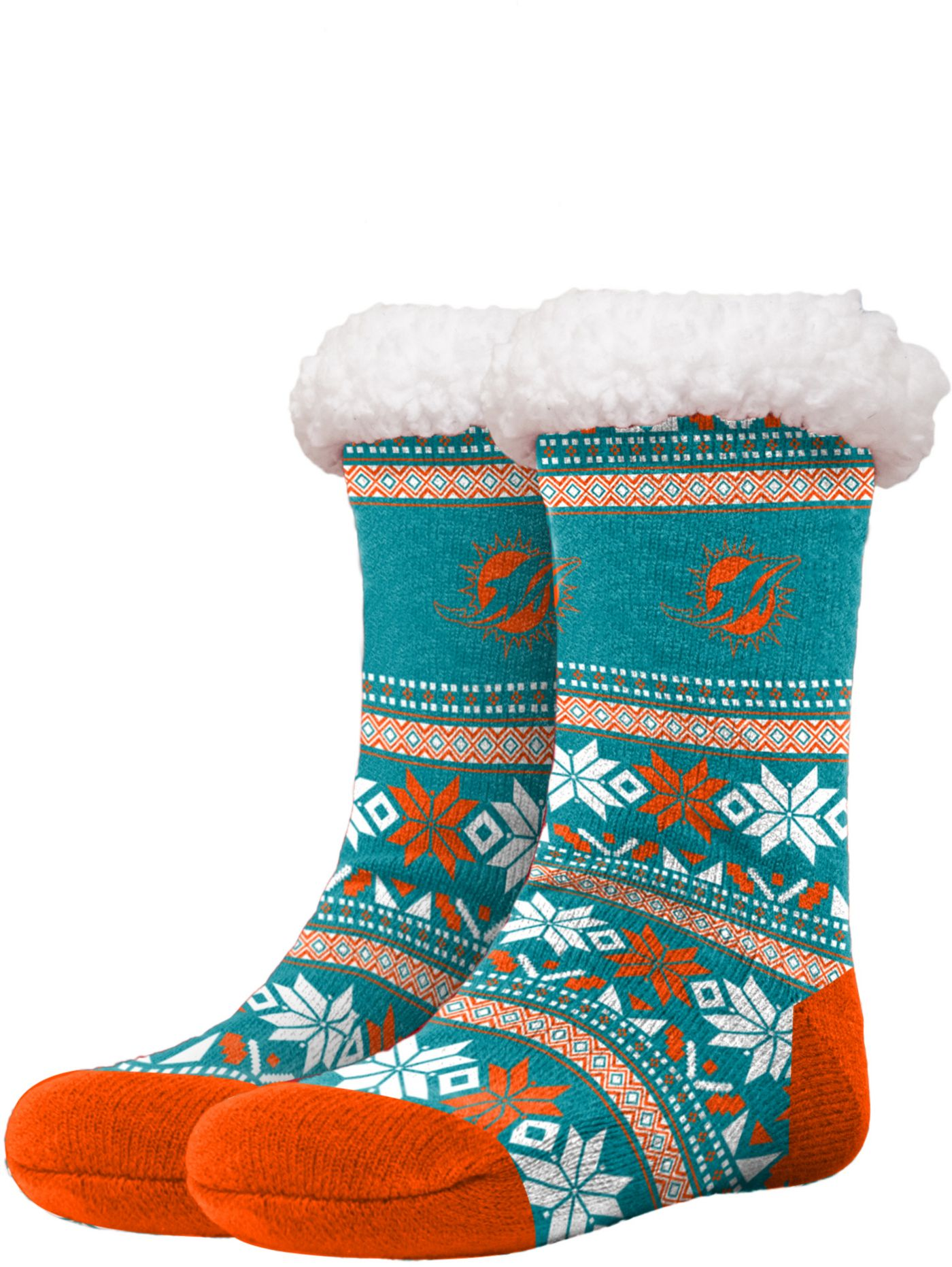 FOCO Miami Dolphins Footy Slippers