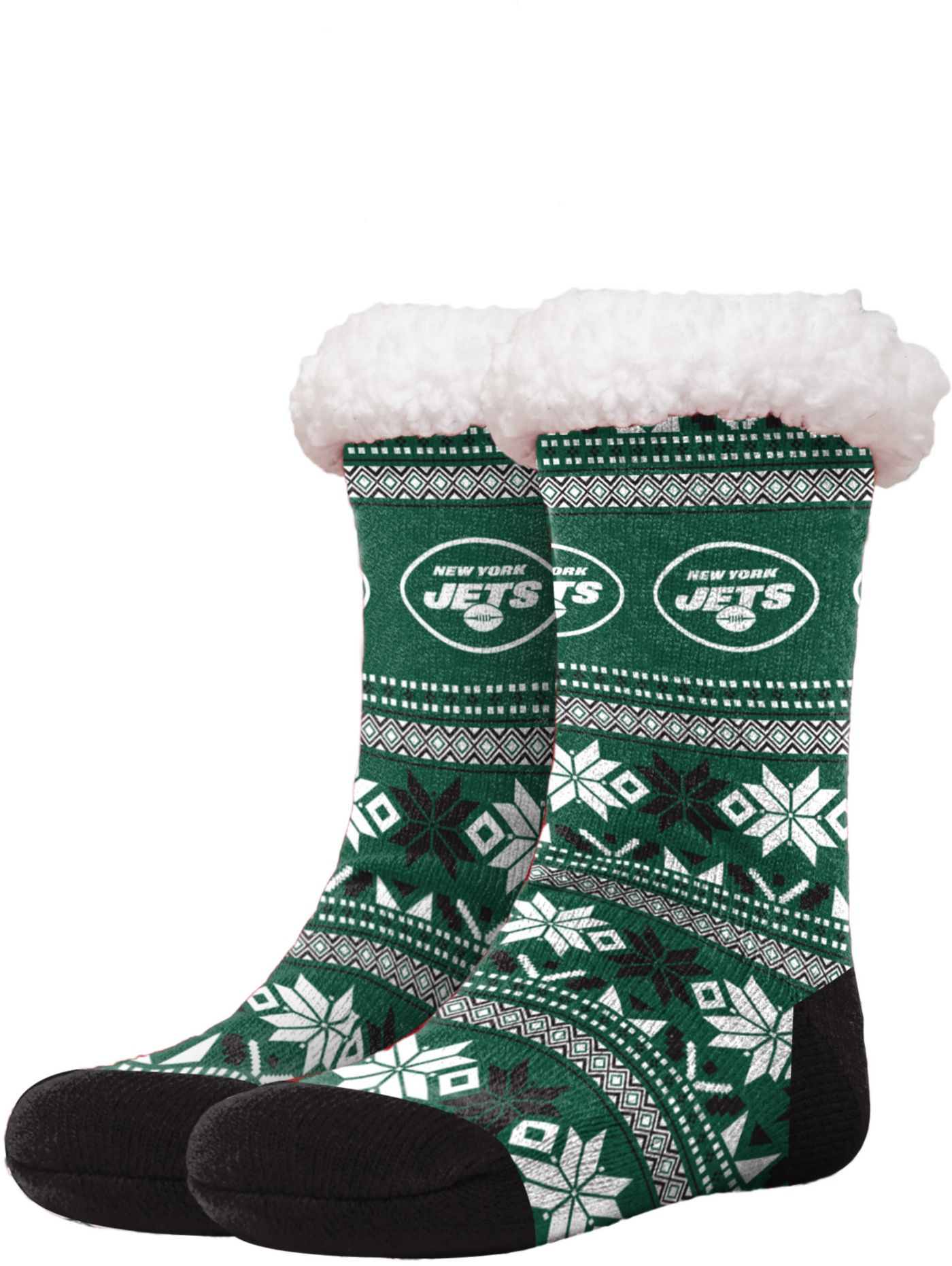 FOCO New York Jets Footy Slippers