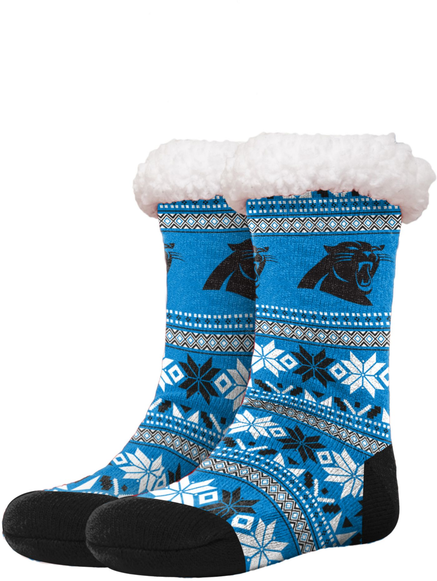 FOCO Carolina Panthers Footy Slippers