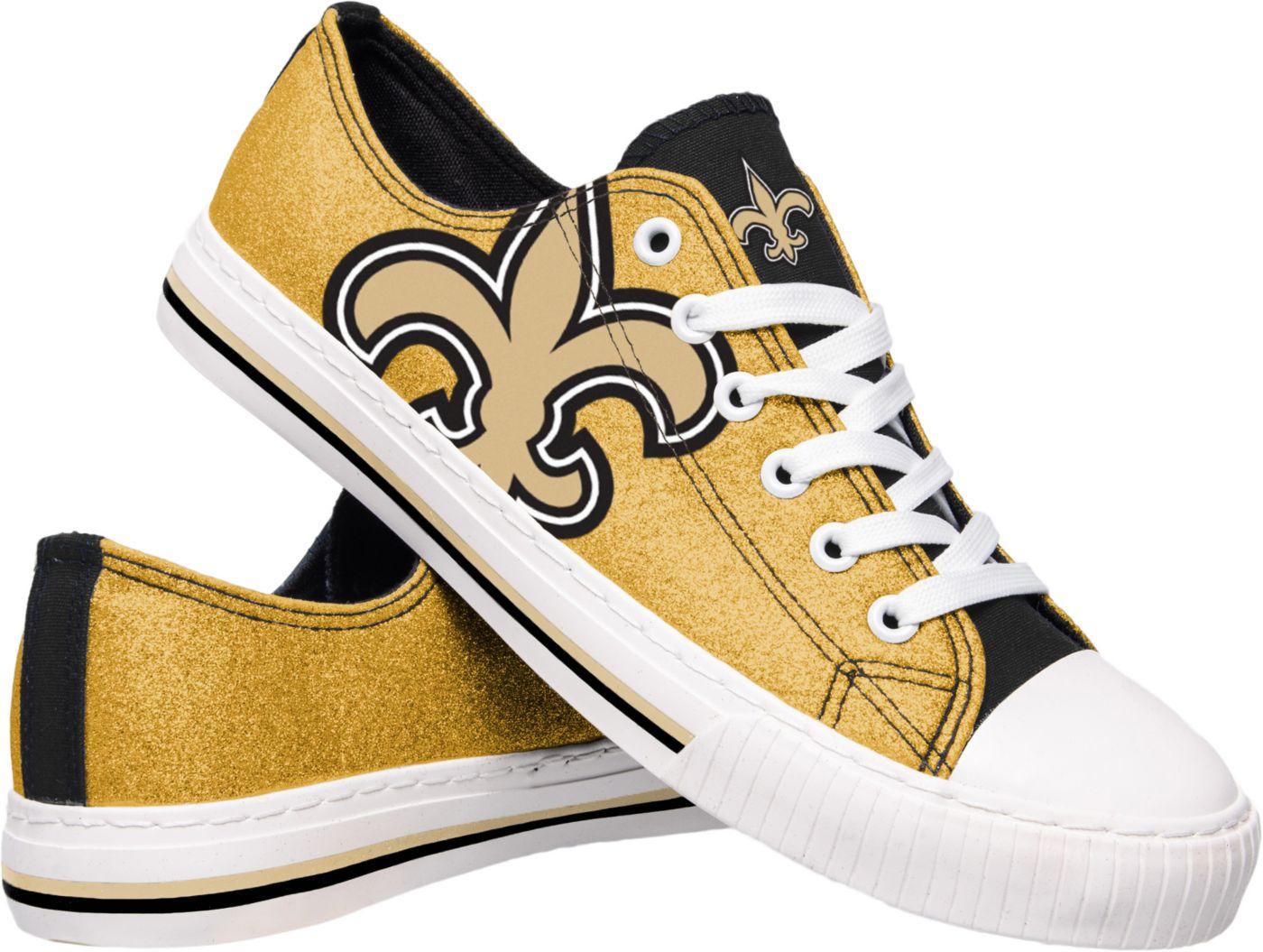 FOCO New Orleans Saints Women's Glitter Canvas Shoes