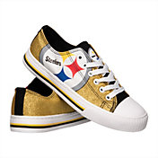 FOCO Pittsburgh Steelers Women's Glitter Canvas Shoes