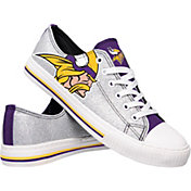 FOCO Minnesota Vikings Women's Glitter Canvas Shoes