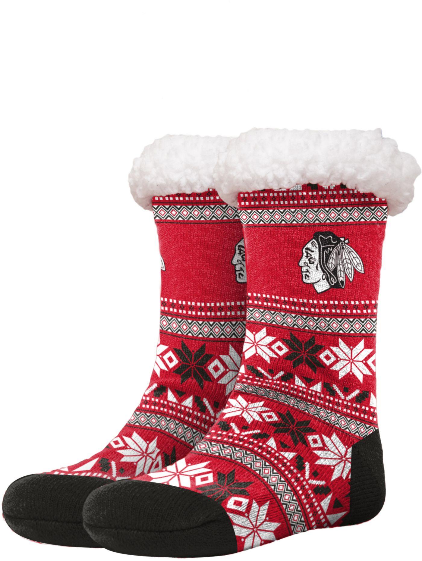 FOCO Chicago Blackhawks Footy Slippers