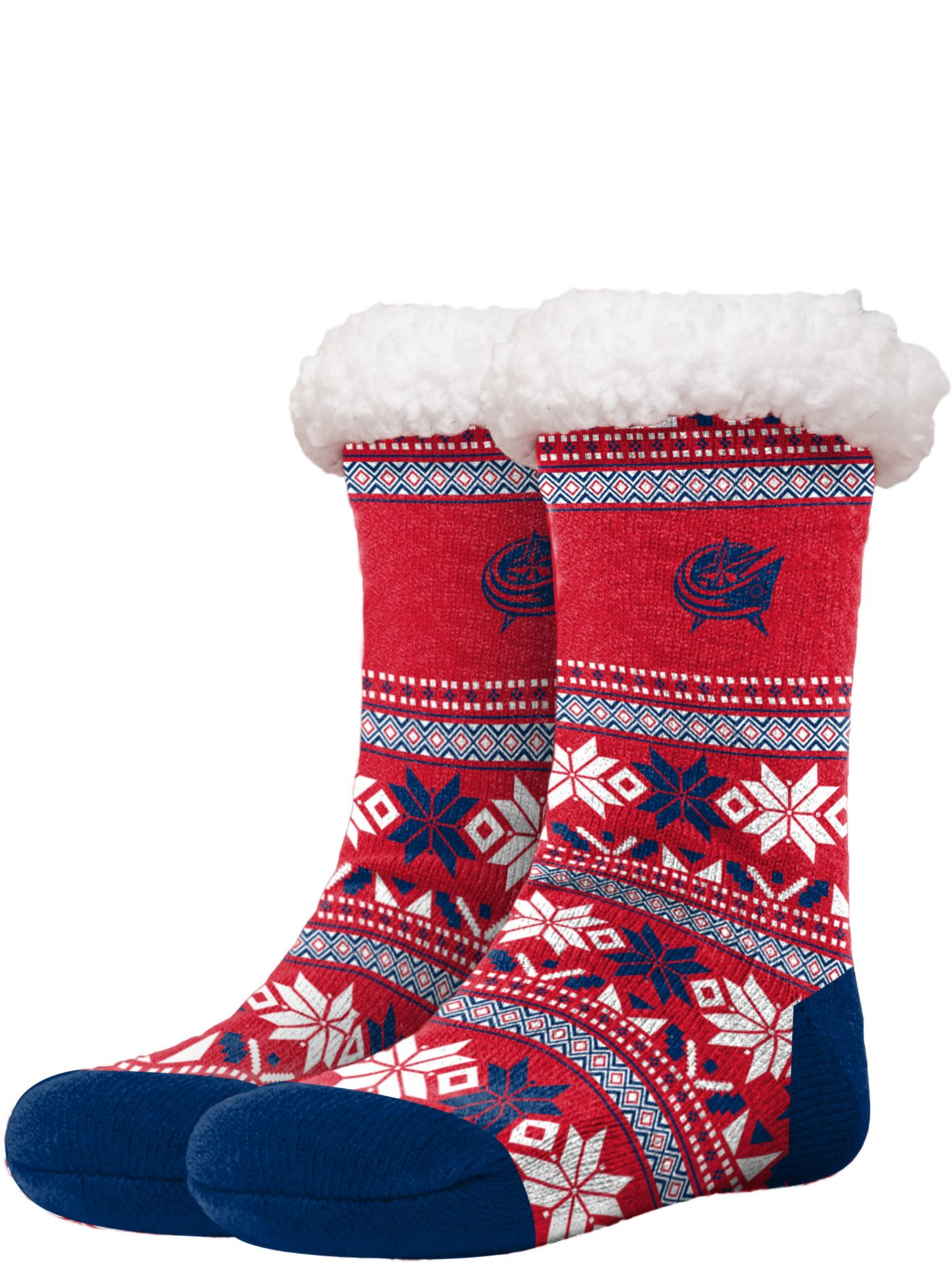 FOCO Columbus Bluejackets Footy Slippers