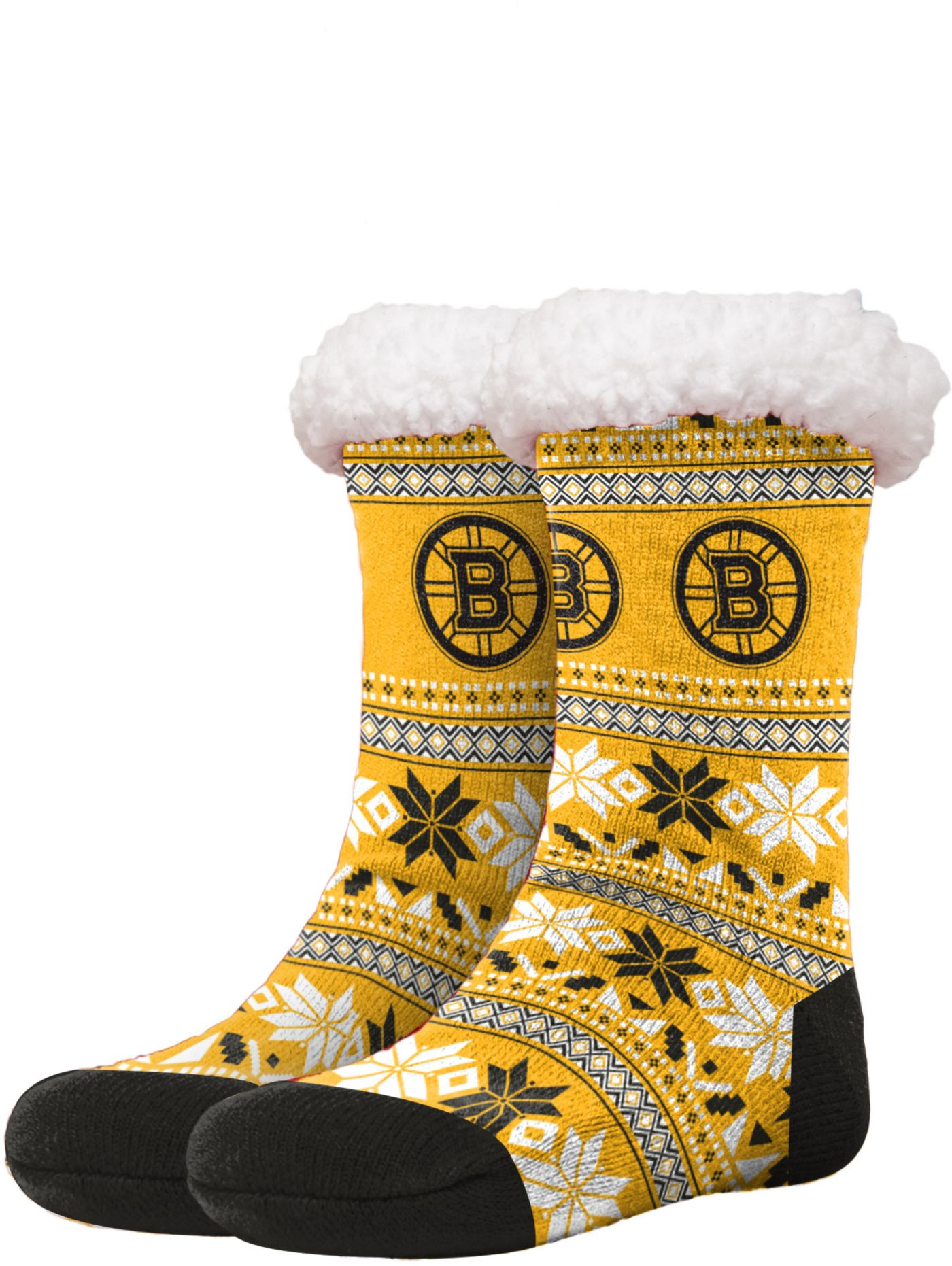 FOCO Boston Bruins Footy Slippers