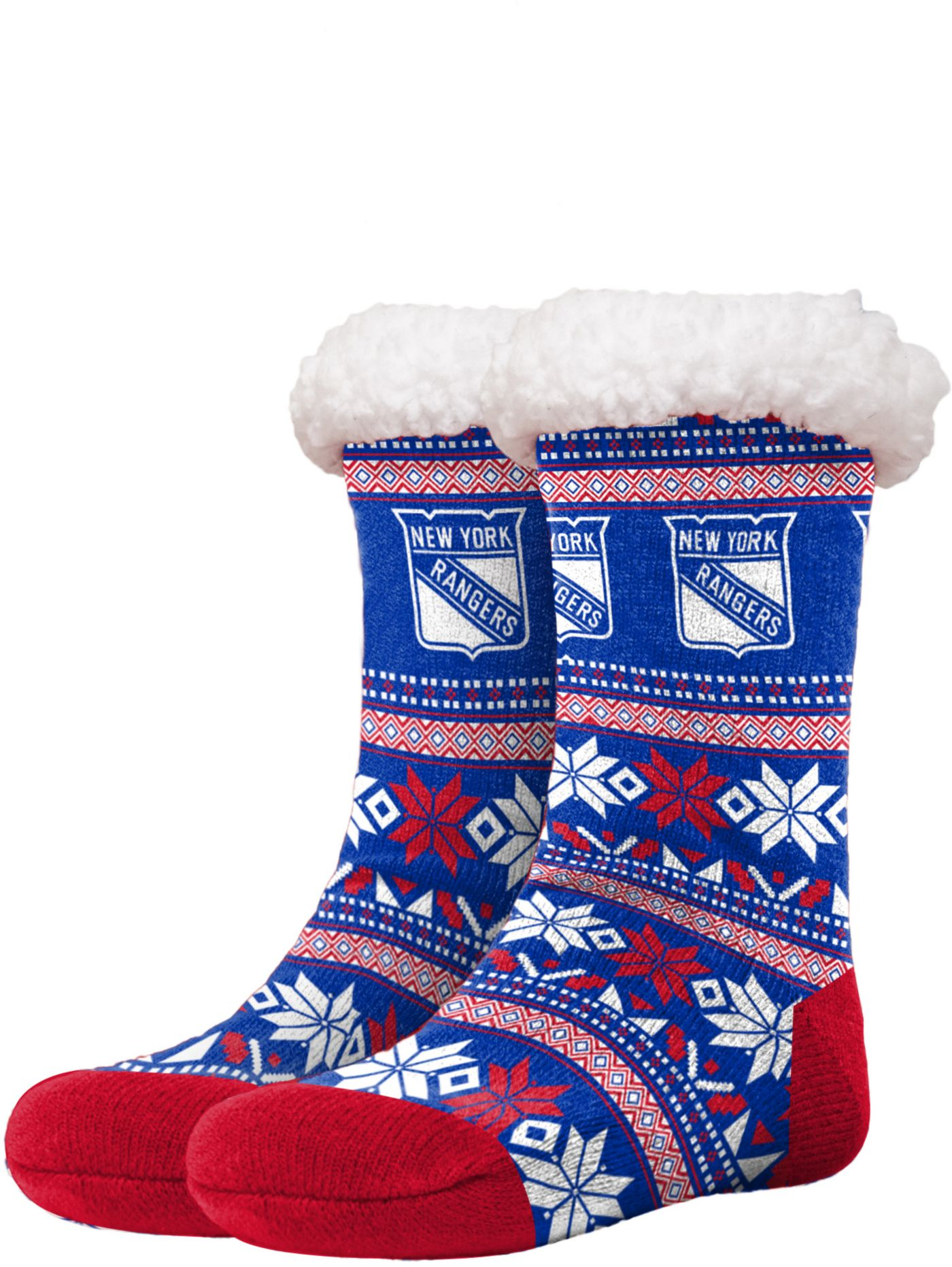 FOCO New York Rangers Footy Slippers