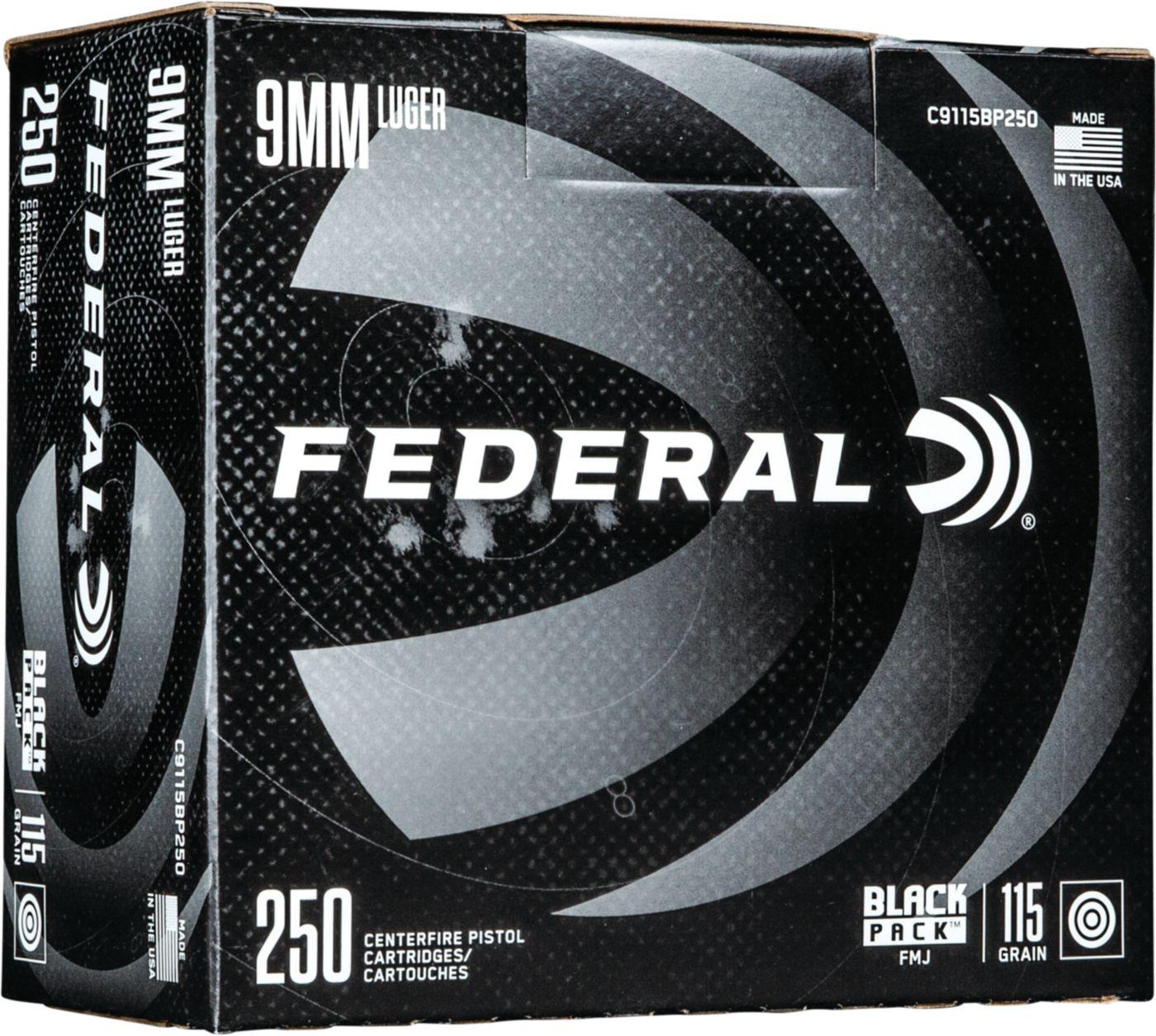 Federal Black Pack FMJ Handgun Ammo