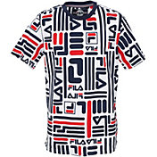 FILA Boy's Linear Logo T-Shirt