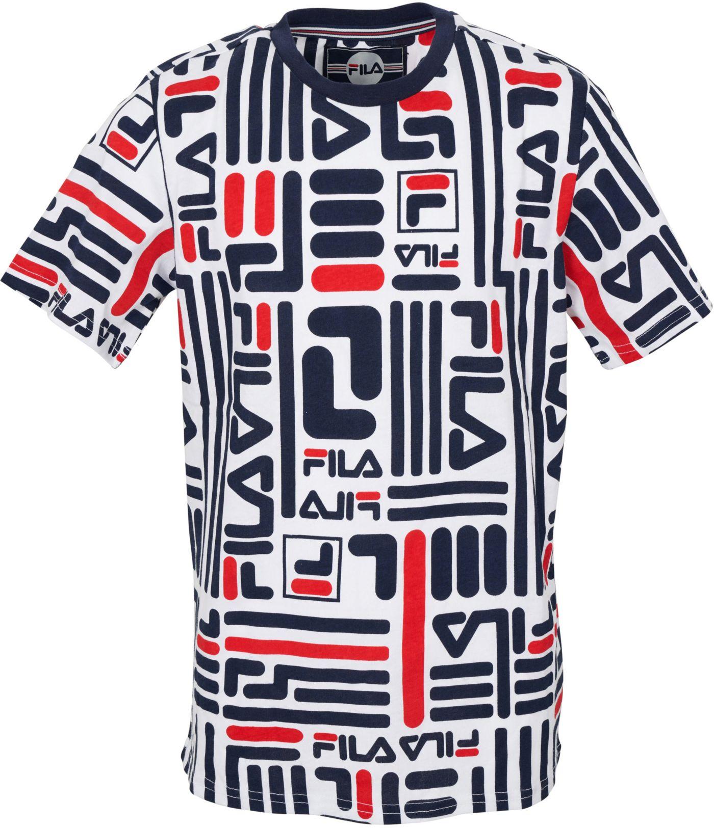 FILA Boy's Linear Logo T-Shirt