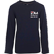FILA Boy's International Logo Taping T-Shirt
