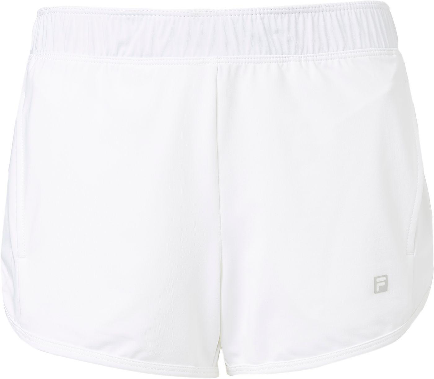 FILA Girls' Double Layer Knit Tennis Shorts