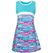 FILA Girls' Blue Wave Tennis Dress