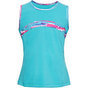 FILA Girls' Blue Wave Tennis Tank