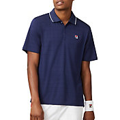 FILA Men's Heritage Drop Needle Tennis Polo