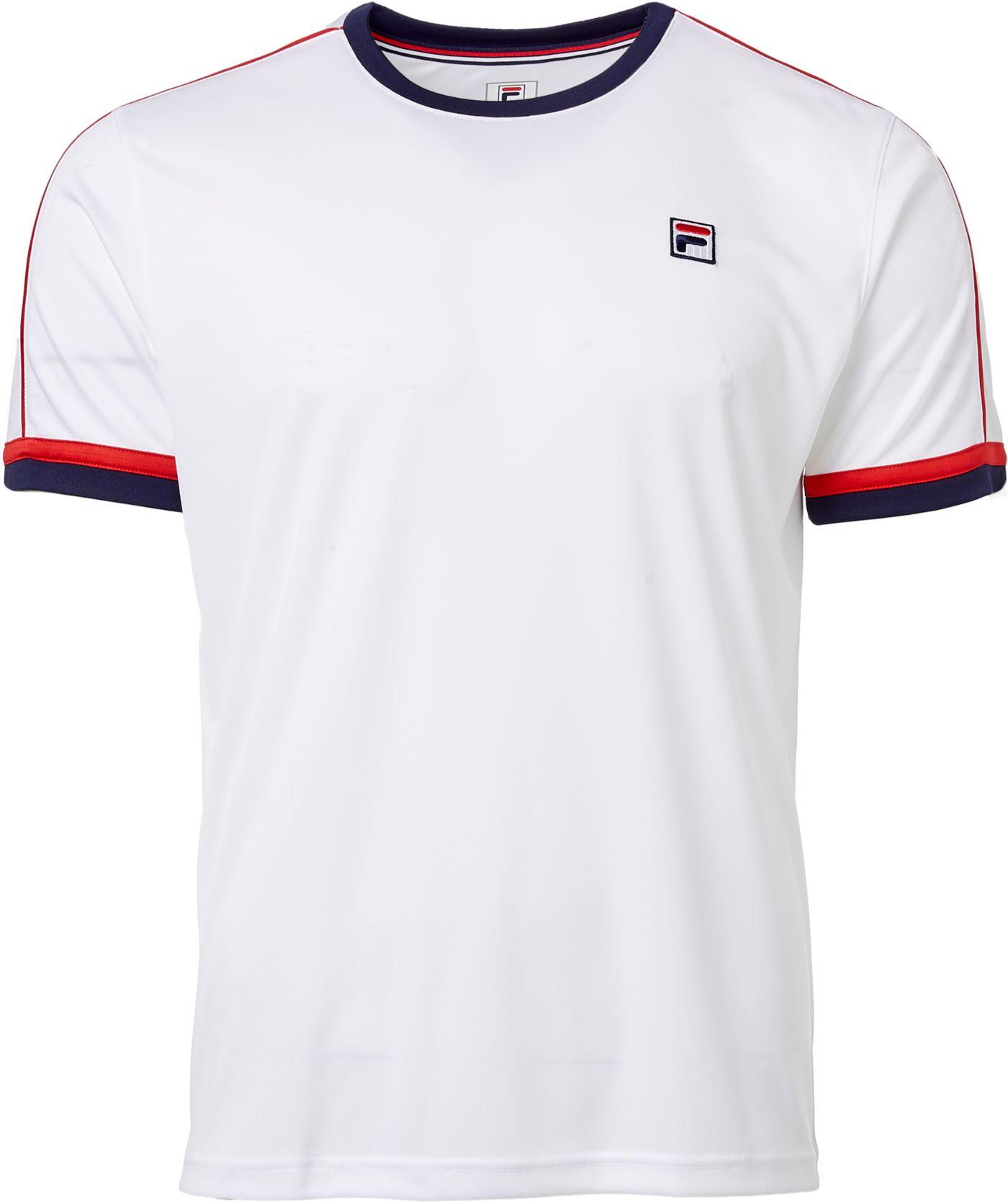 FILA Men's Heritage Piped Crew Tennis T-Shirt