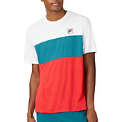 FILA Men's Legend ColorBlock Crewneck Tennis Shirt