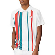 FILA Men's Stripe Print Tennis Polo