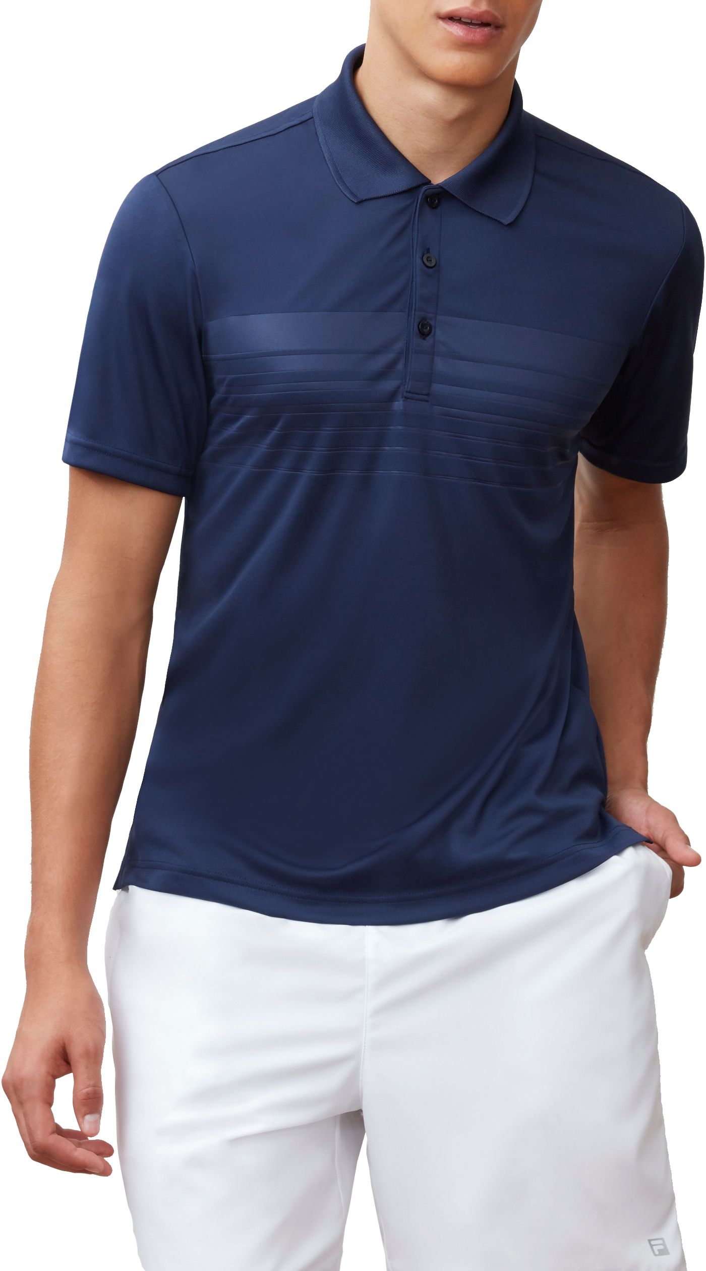 Fila Men's Embossed Chest Stripe Tennis Polo
