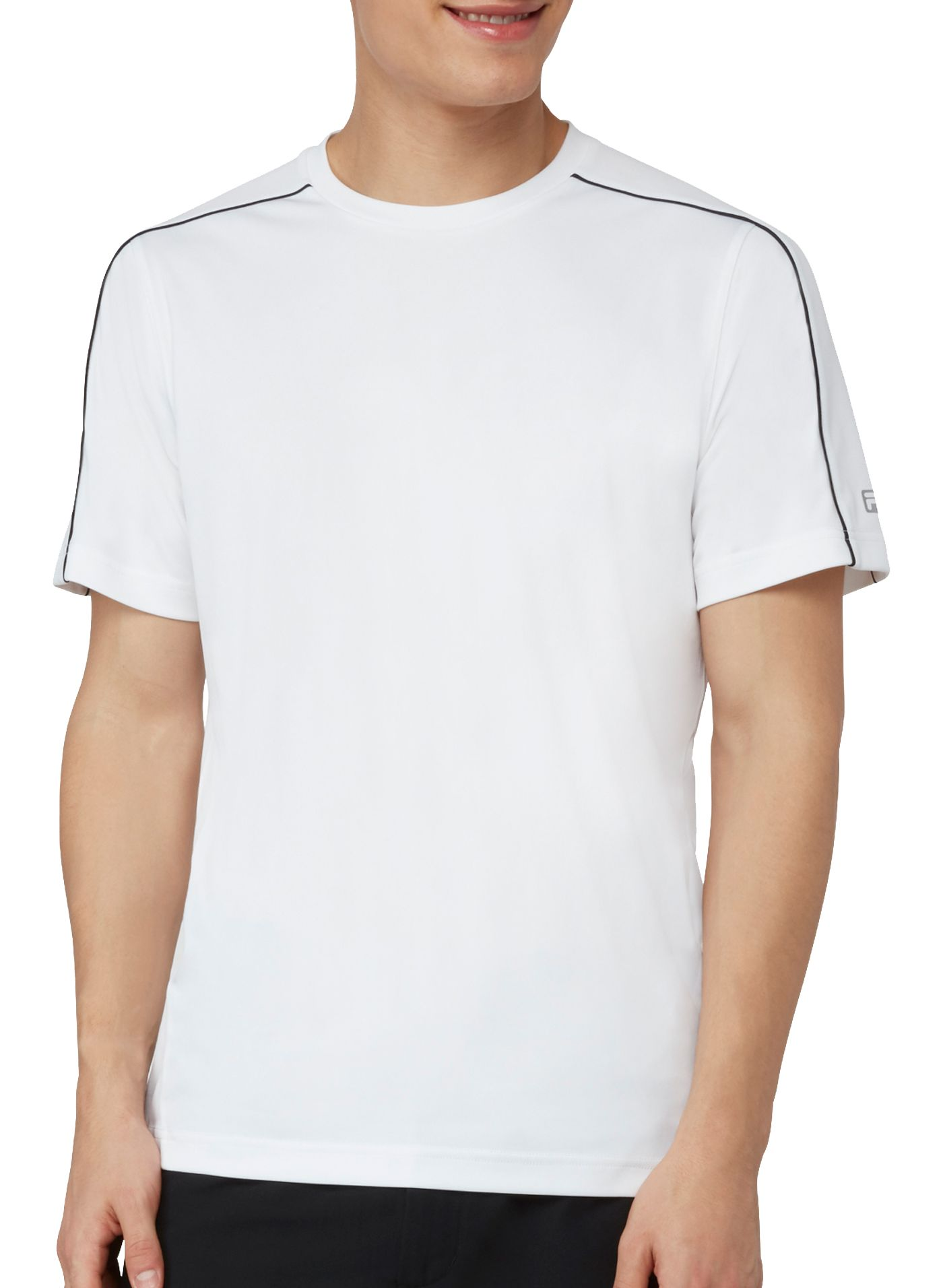 FILA Men's Fundamental Piped Crew Tennis T-Shirt
