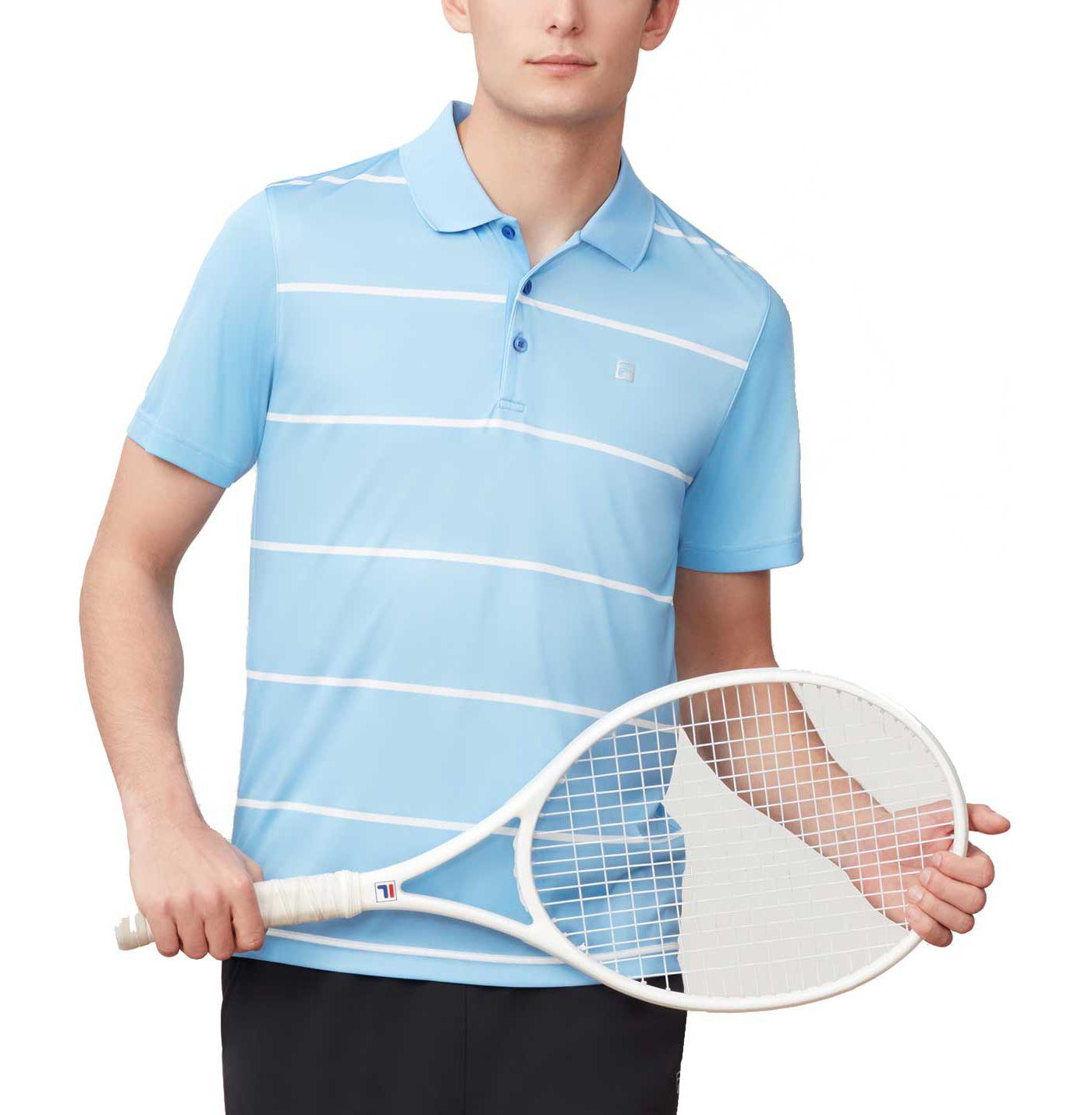 Fila Men's Set Point Striped Tennis Polo