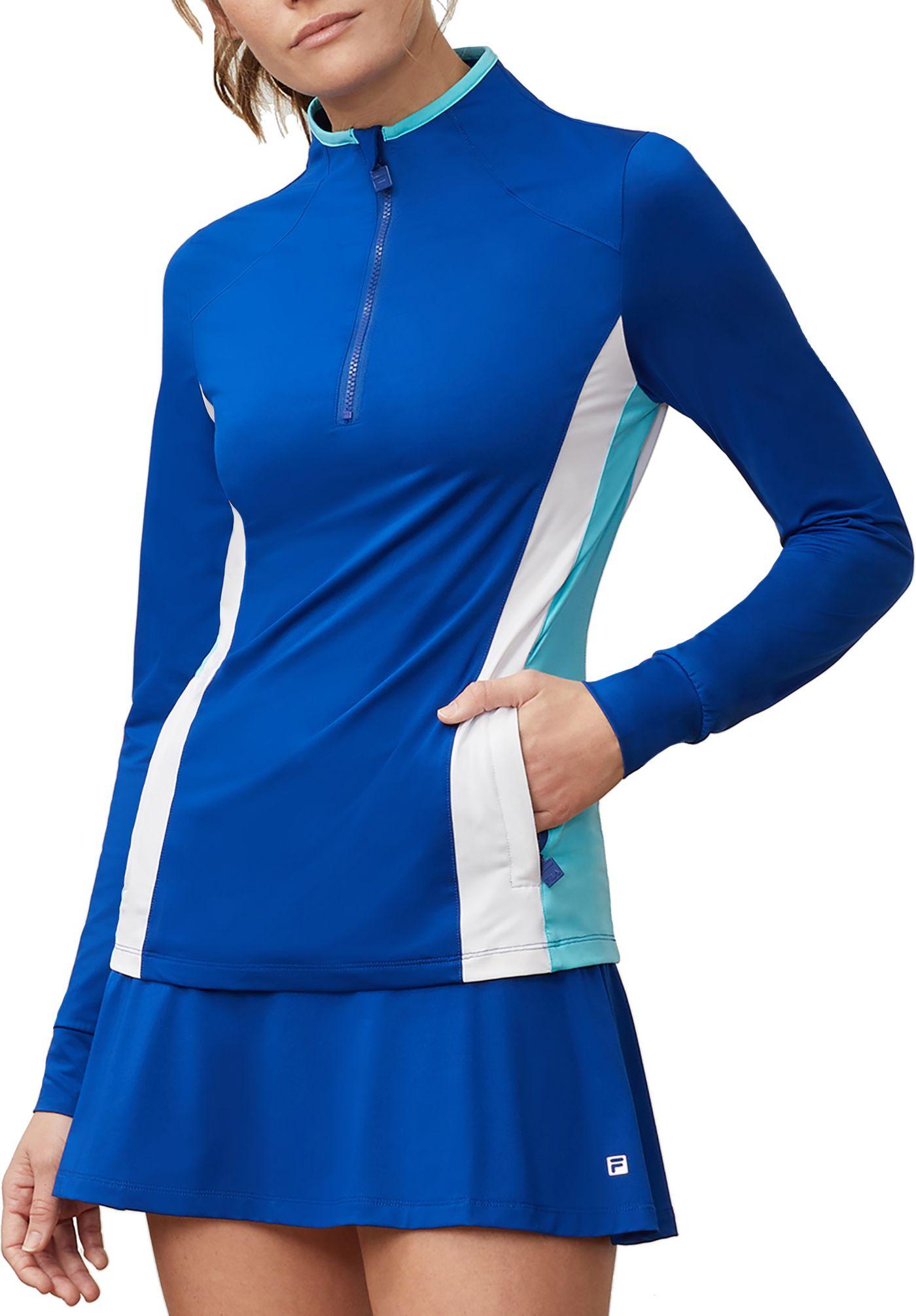 Fila Women's Aqua Sole Half Zip Tennis Jacket