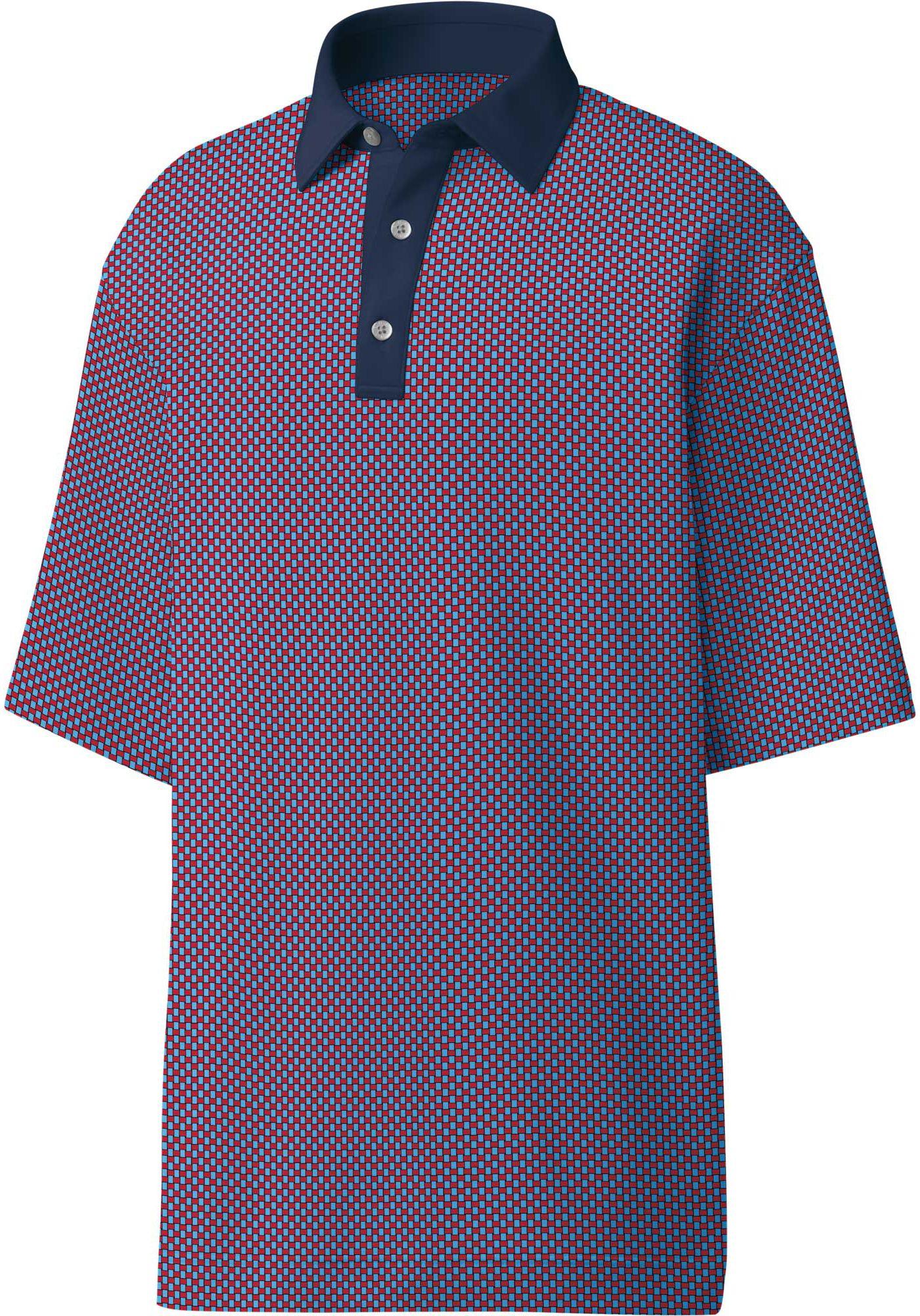 FootJoy Men's Lisle ProDry Basketweave Print Golf Polo