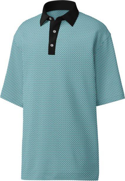 FootJoy Men's Basketweave Print Golf Polo