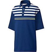 Footjoy Men's Lisle Engineered Chest Stripe Golf Polo