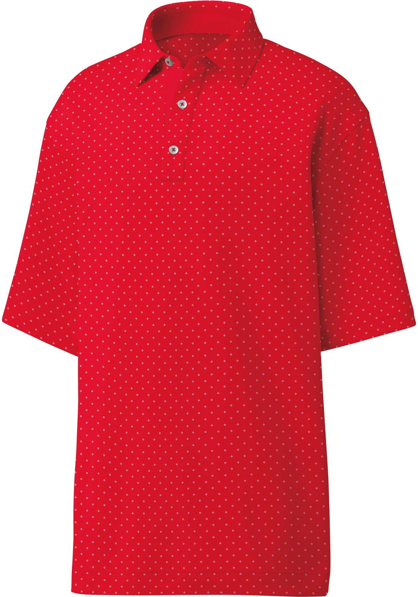 FootJoy Men's Diamond Print Golf Polo