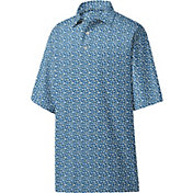 Footjoy Men's Lisle Floral Print Golf Polo