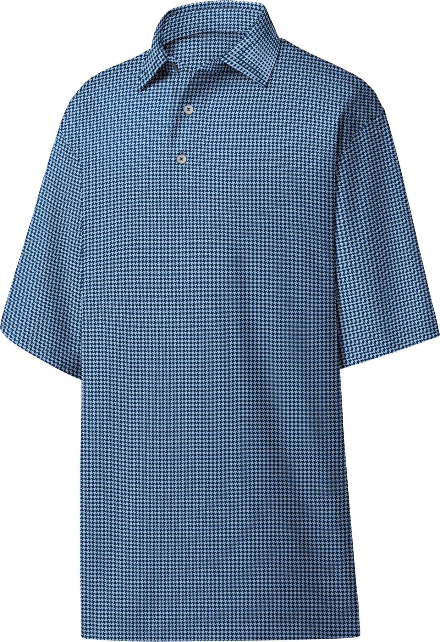 FootJoy Men's Heather Lisle Houndstooth Golf Polo