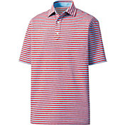 FootJoy Men's Heather Lisle Stripes Golf Polo