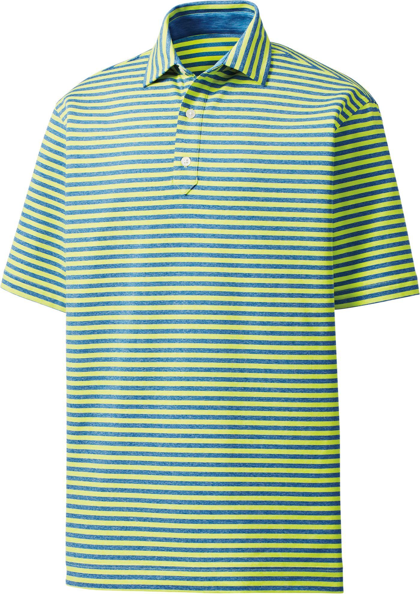Footjoy Men's Heather Lisle Stripe Golf Polo