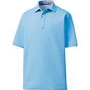 FootJoy Men's Heathered Solid Color Golf Polo