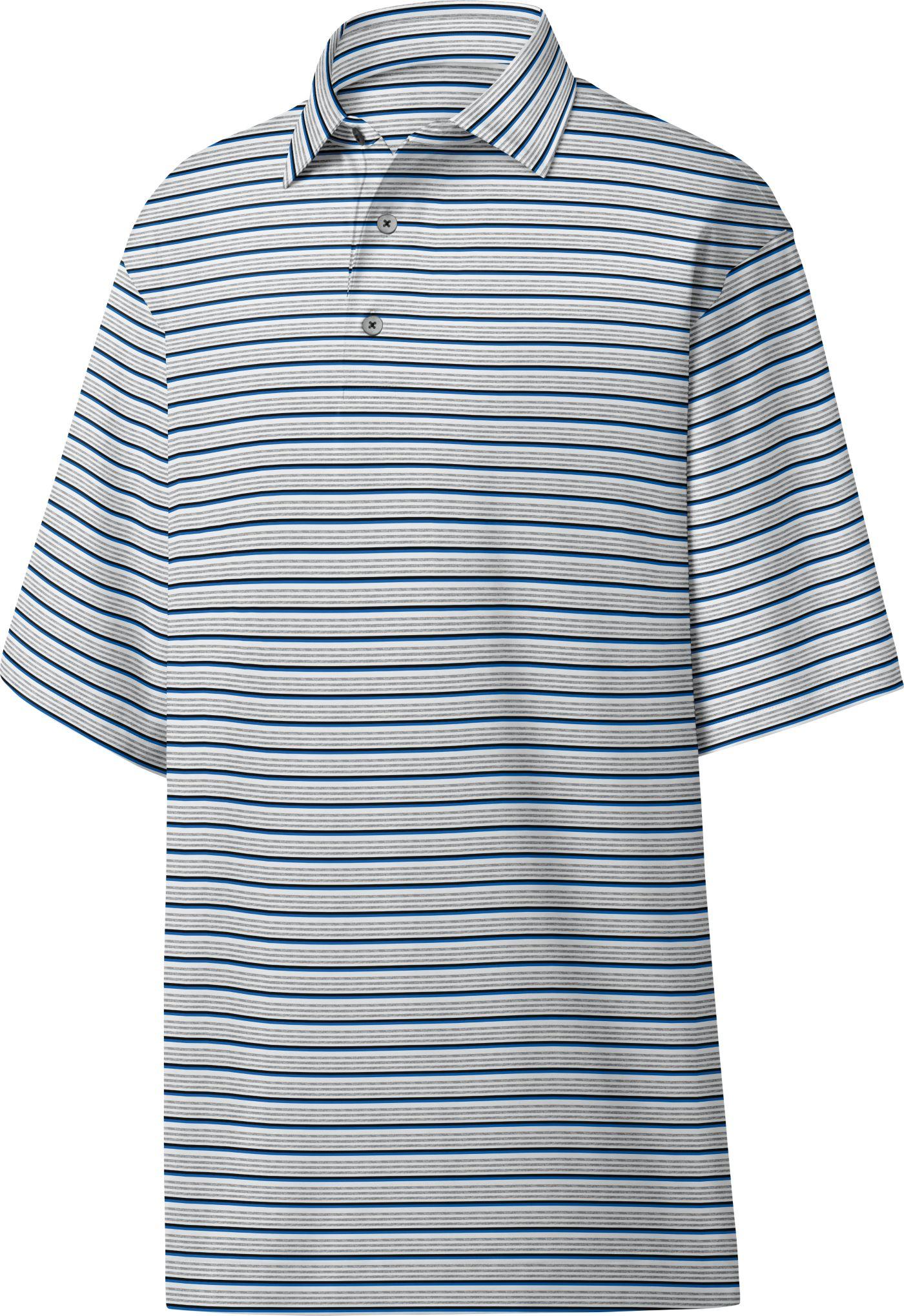 FootJoy Men's Lisle Multi Stripe Golf Polo