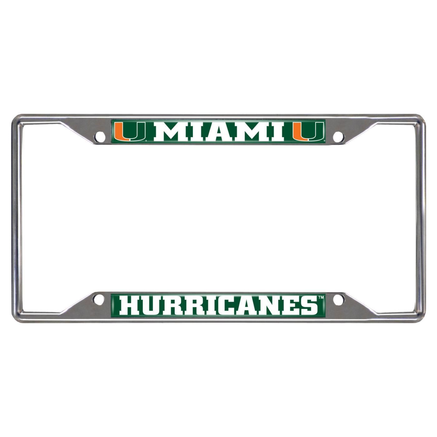FANMATS Miami Hurricanes License Plate Frame