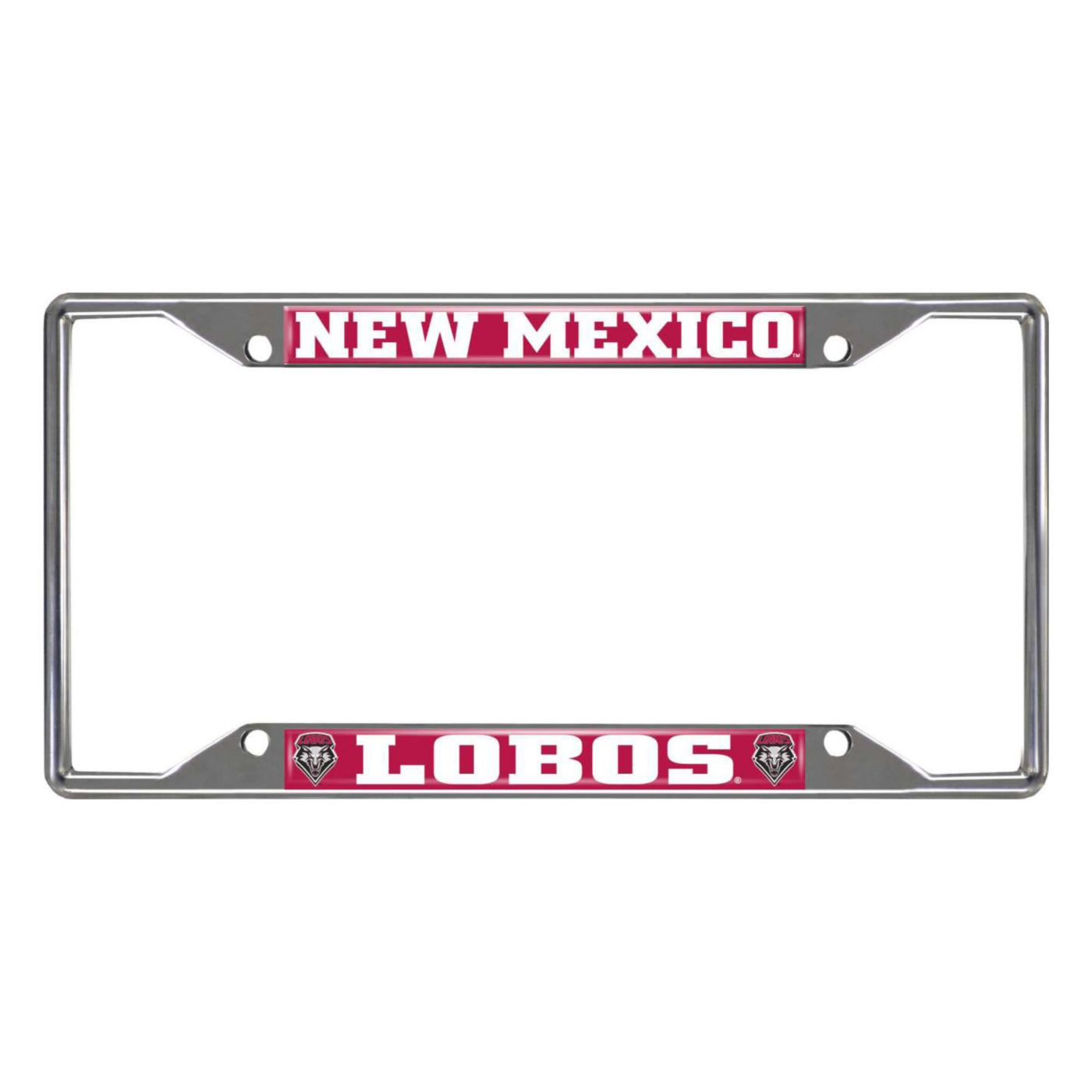 FANMATS New Mexico Lobos License Plate Frame