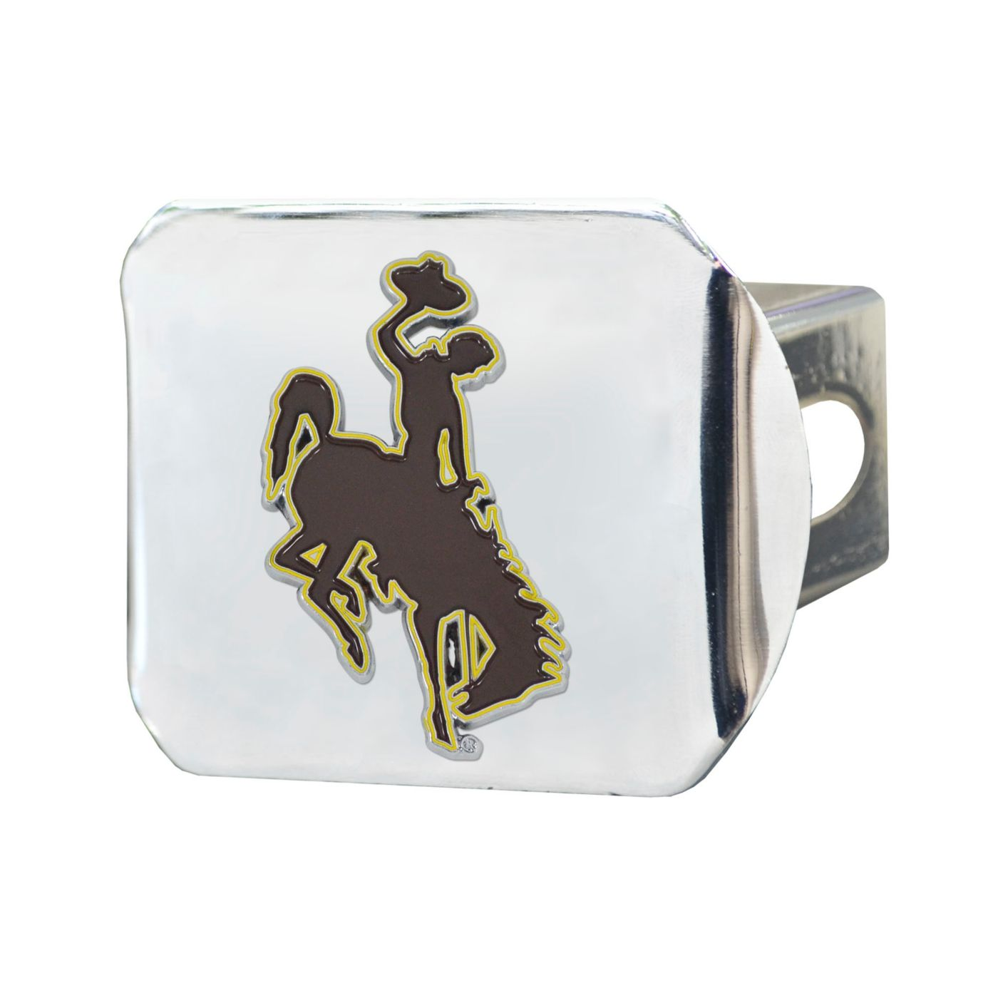 FANMATS Wyoming Cowboys Chrome Hitch Cover