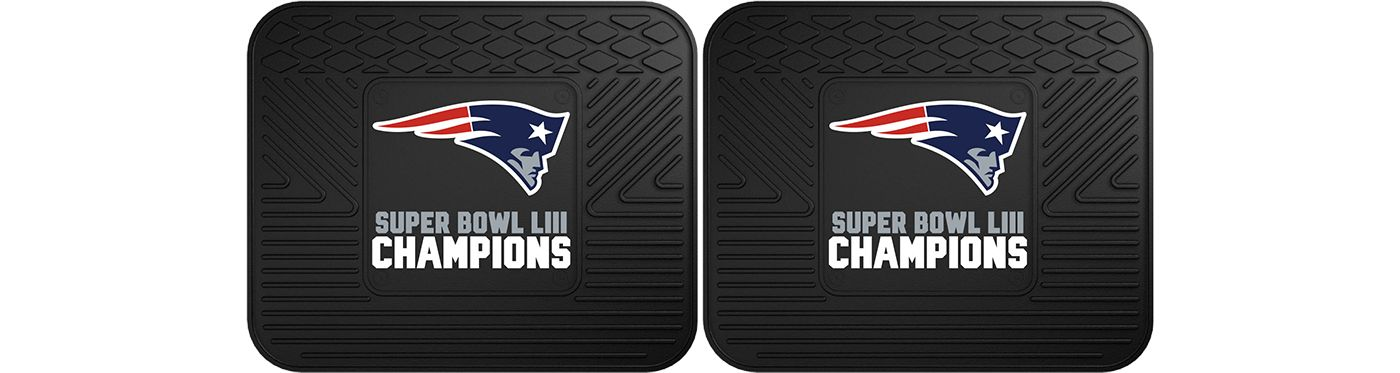 FANMATS Super Bowl LIII Champions New England Patriots Two Pack Utility Mats
