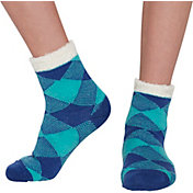 Field & Stream Girls' Cozy Cabin Buff Check Crew Socks