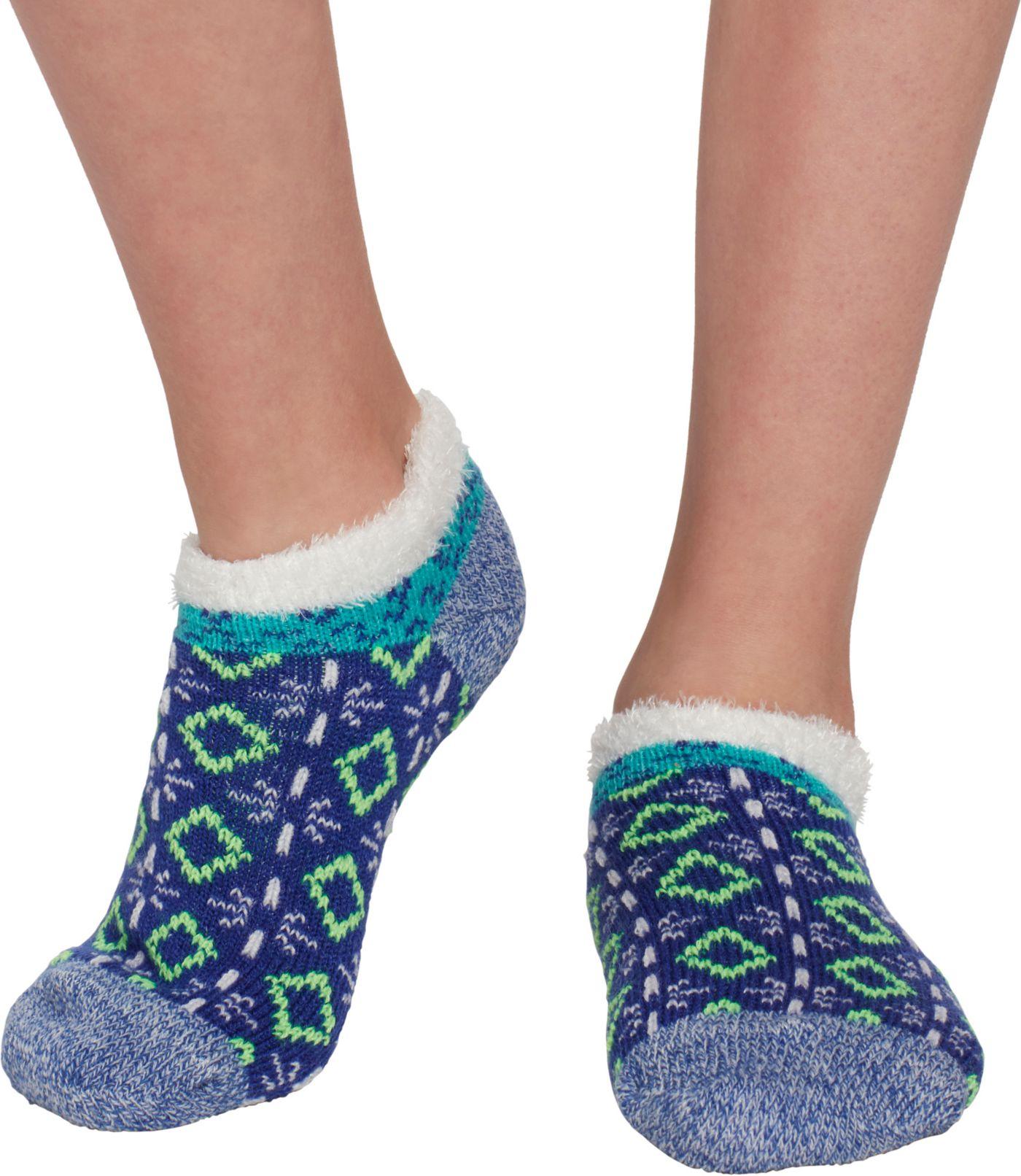 Field & Stream Girls' Cozy Cabin Tribal Block Ankle Socks