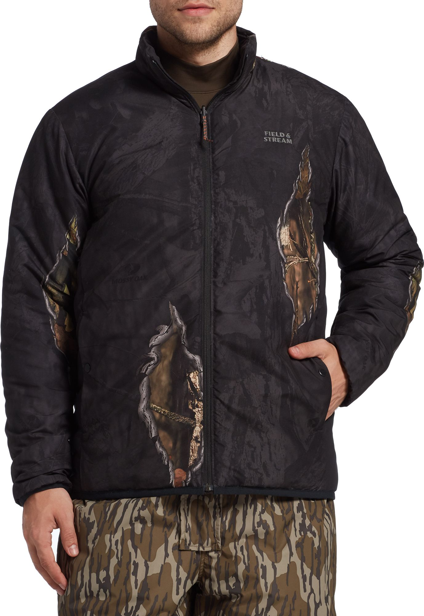 Field & Stream Men's Command Hunt Waterfowl 6 in 1 Reversible Hunting Jacket, Size: Medium, Brown