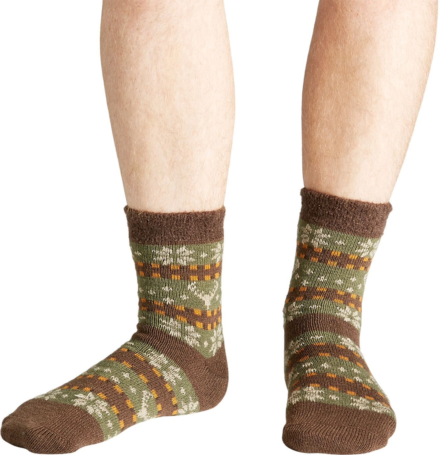 Field & Stream Men's Cozy Cabin Deer Fair Isle Socks