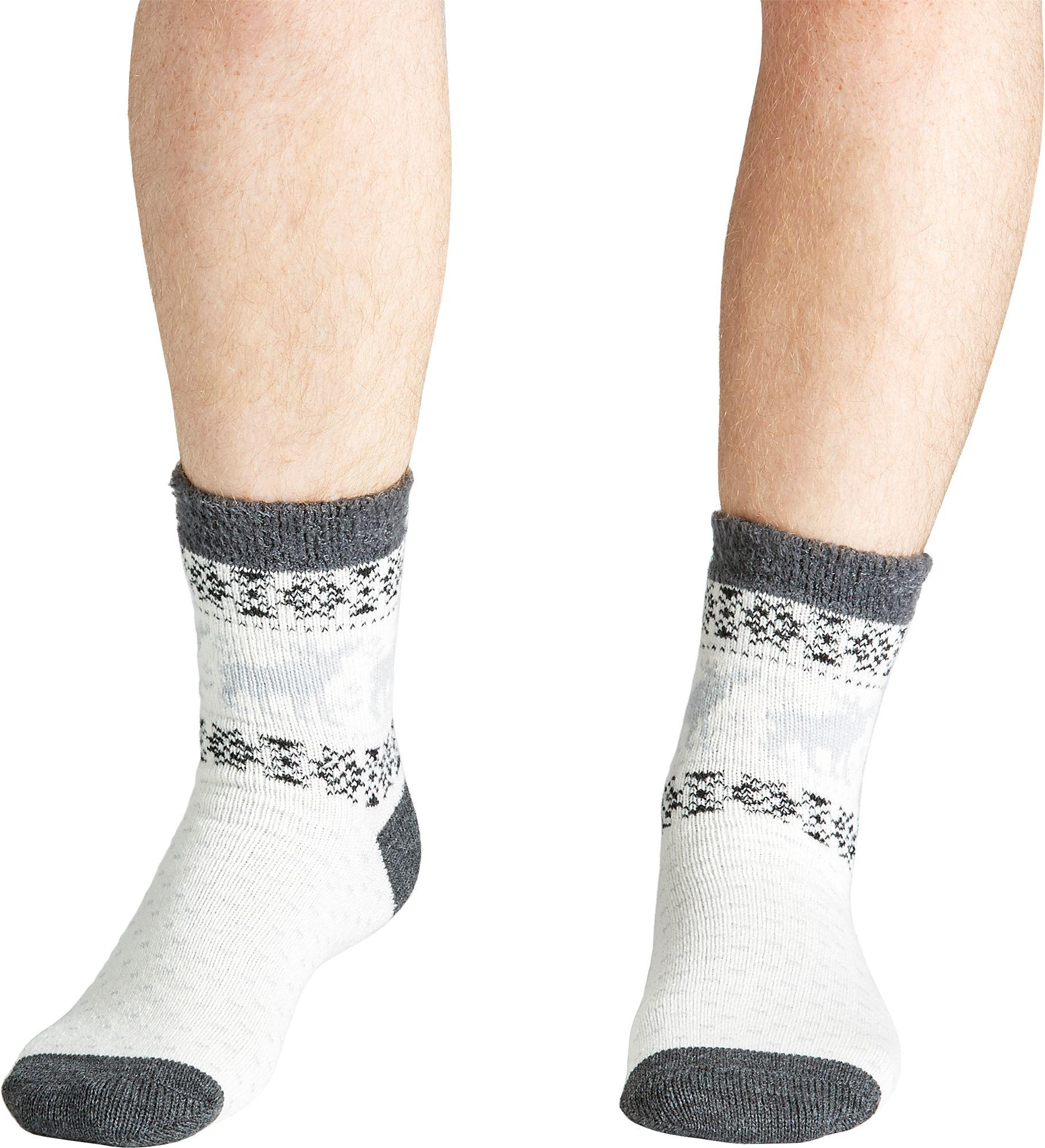 Field & Stream Men's Cozy Cabin Moose Block Socks, Size: 10-13, Dark Grey