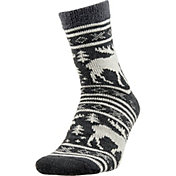 Field & Stream Men's Cozy Cabin Moose Stripe Socks